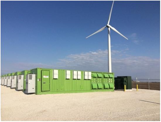 Картинка: ветро-электрогенераторы для баз данных